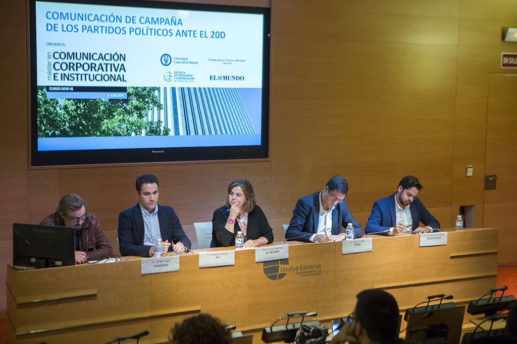 El Máster en Comunicación y El Mundo organizan el primer debate electoral