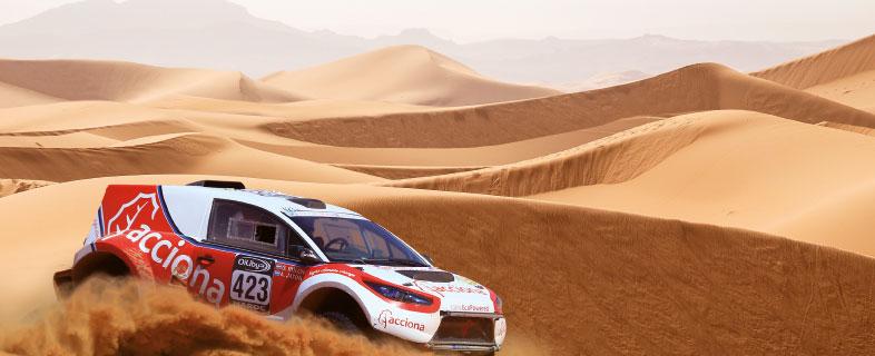 El reto del primer coche 100% renovable en los rallies