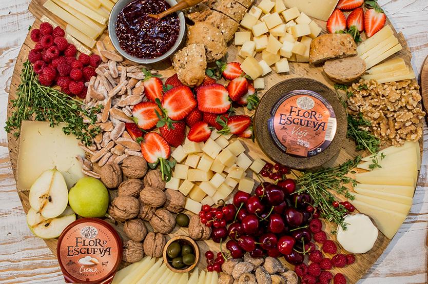 Cata de quesos de Flor de Esgueva y maridaje